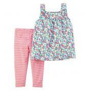 Conjunto legging capri e blusa floral - Carter's