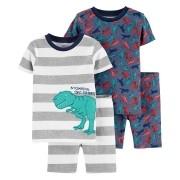Conjunto pijamas verão azul dinossauros - Carters