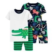 Conjunto pijamas verão verde jacaré - Carters