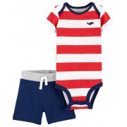 Conjunto short e body listrado - Carters