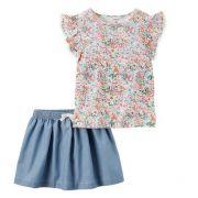 Conjunto short saia floral - Carter's