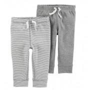 Kit 2 calças de malha cinza - Carter's