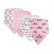 Kit 4 babadores bandana rosa - Hudson Baby