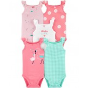 Kit 5 bodies regata flamingo - Carters