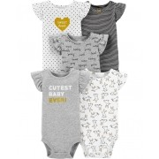 Kit 5 bodies regata flutter coelhinhos - Carters