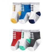 Kit 6 meias sapatinhos - Carter's