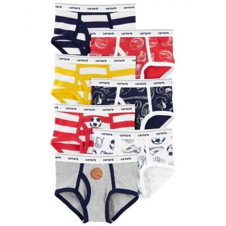 Kit 7 cuecas coloridas esportes e listras - Carters