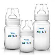 Kit triplo mamadeiras Anti-colic branca 125, 260 e 330 ml - Avent