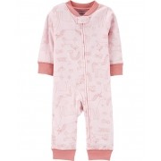 Macacão de malha sem pé rosa unicórnios - Carters