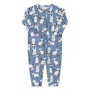Macacão manga longa azul guaxinim - Up Baby