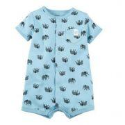 Macaquinho azul elefantes - Carters