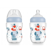 Mamadeira First Moments Azul Marshmallow 270ml (2M+) Fisher-Price