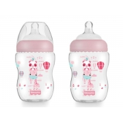 Mamadeira First Moments Rosa Algodão Doce 270ml (2M+) Fisher-Price