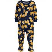 Pijama macacão de malha azul tigres - Carters