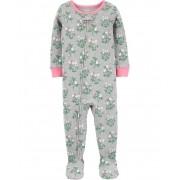 Pijama macacão de malha cinza floral - Carters