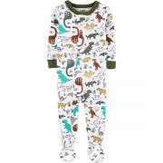 Pijama macacão de malha oliva dinossauros - Carters