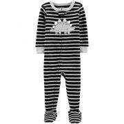 Pijama macacão de malha preto estegossauro - Carters
