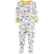 Pijama macacão de malha veículos - Carter's