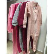 Pijama macacão de moletom flanelado - Vrasalon