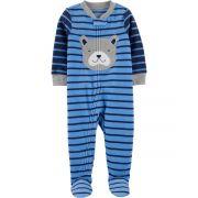 Pijama macacão de plush azul cachorro - Carters