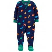 Pijama macacão de plush azul marinho dinossauros - Carters