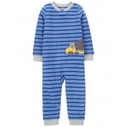 Pijama macacão de plush sem pé azul caminhão - Carters
