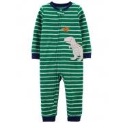 Pijama macacão de plush sem pé verde dinossauro - Carters