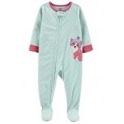 Pijama macacão de plush verde cachorrinha - Carters