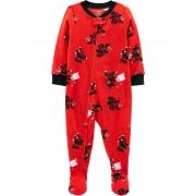 Pijama macacão de plush vermelho Ninjas - Carters