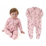 Pijama macacão em microsoft rosa unicórnios - Up Baby