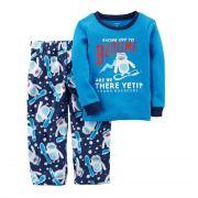 Pijama manga longa azul Yeti - Carter's