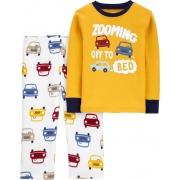 Pijama manga longa em fleece e algodão - Carters