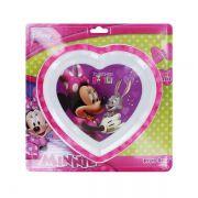 Prato raso coração para microondas Minnie - Multikids Baby