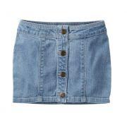 Saia jeans clara com botões - Carter's