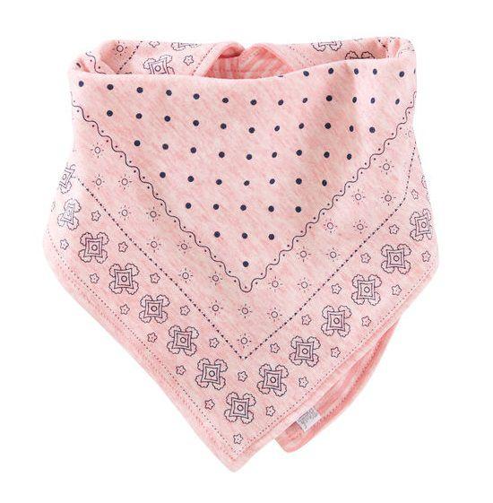 Babador bandana dupla face rosa - OshKosh  - Kaiuru Kids