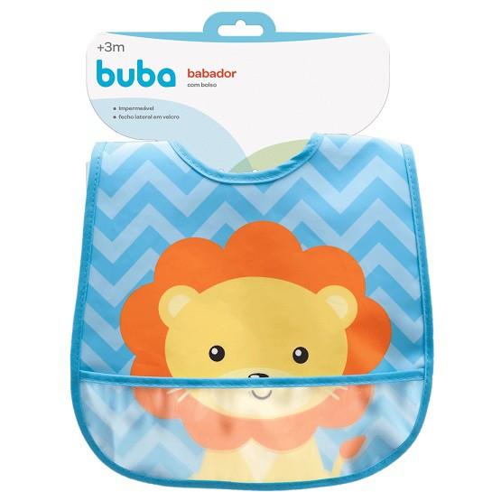 Babador com bolso Animal Fun - Buba  - Kaiuru Kids
