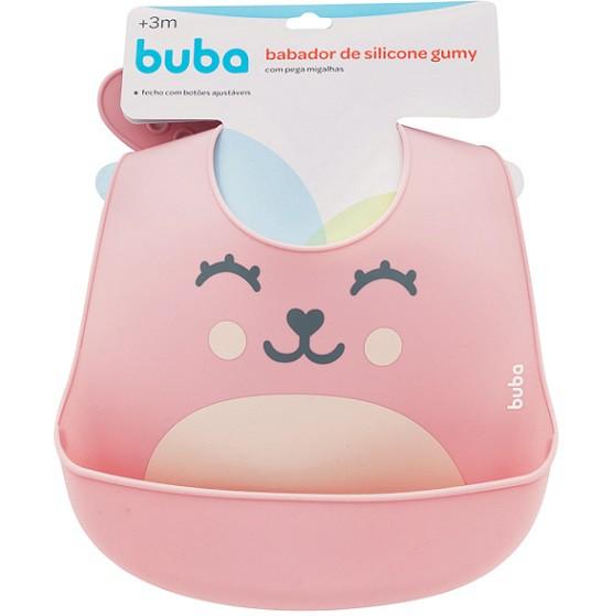 Babador de silicone com pega migalhas GUMY - Buba  - Kaiuru Kids