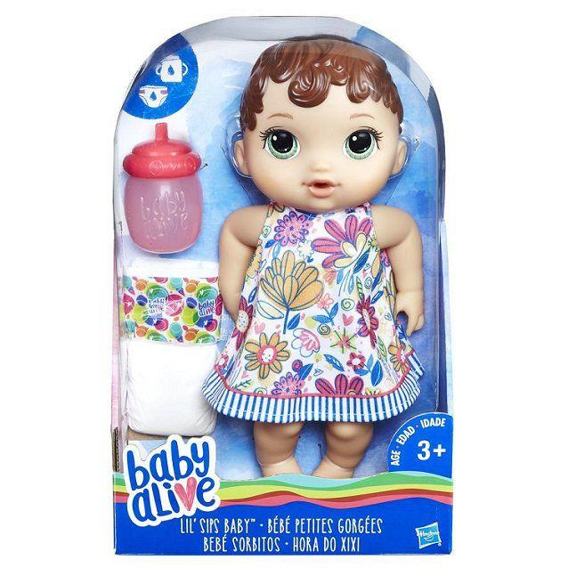 Baby Alive hora do xixi morena - Hasbro  - Kaiuru Kids