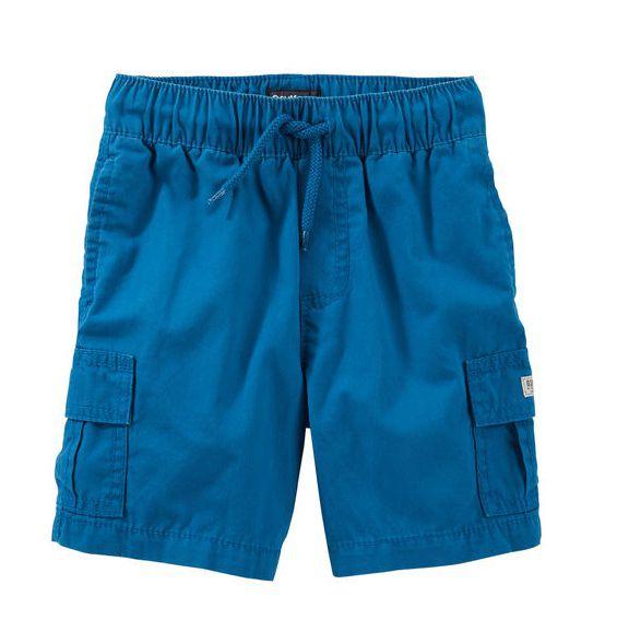 Bermuda cargo de elástico azul royal - OshKosh  - Kaiuru Kids