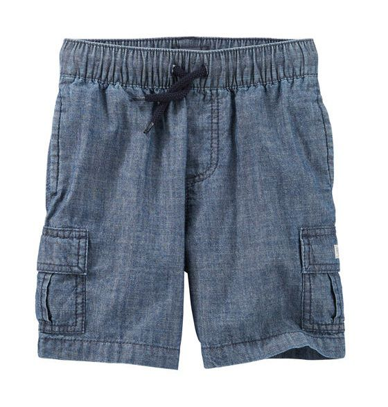Bermuda cargo de elástico jeans - OshKosh  - Kaiuru Kids