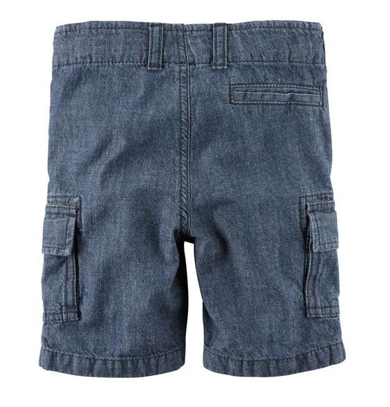 Bermuda cargo jeans cós reto - Carter