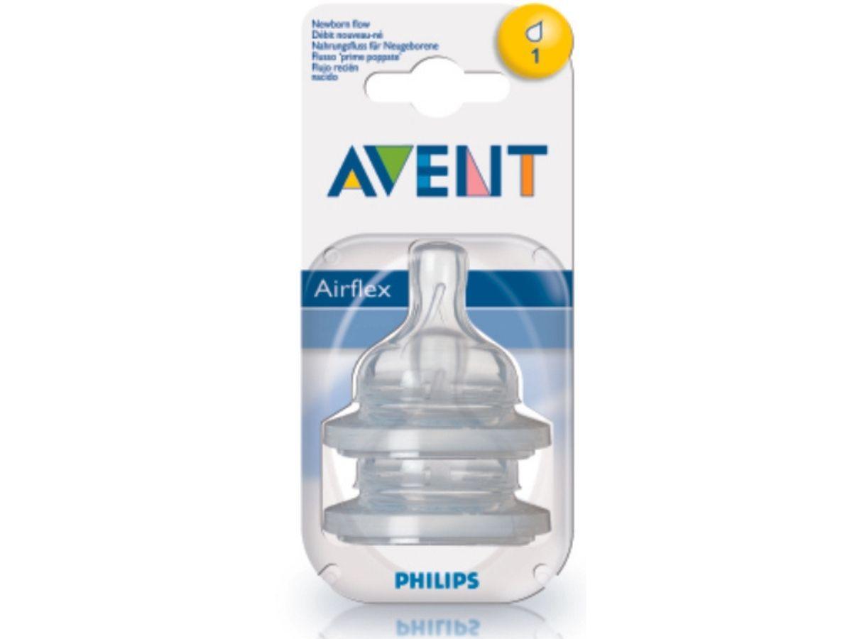Bico de mamadeira Anti-colic clássica N°1 (0m+) - Avent  - Kaiuru Kids