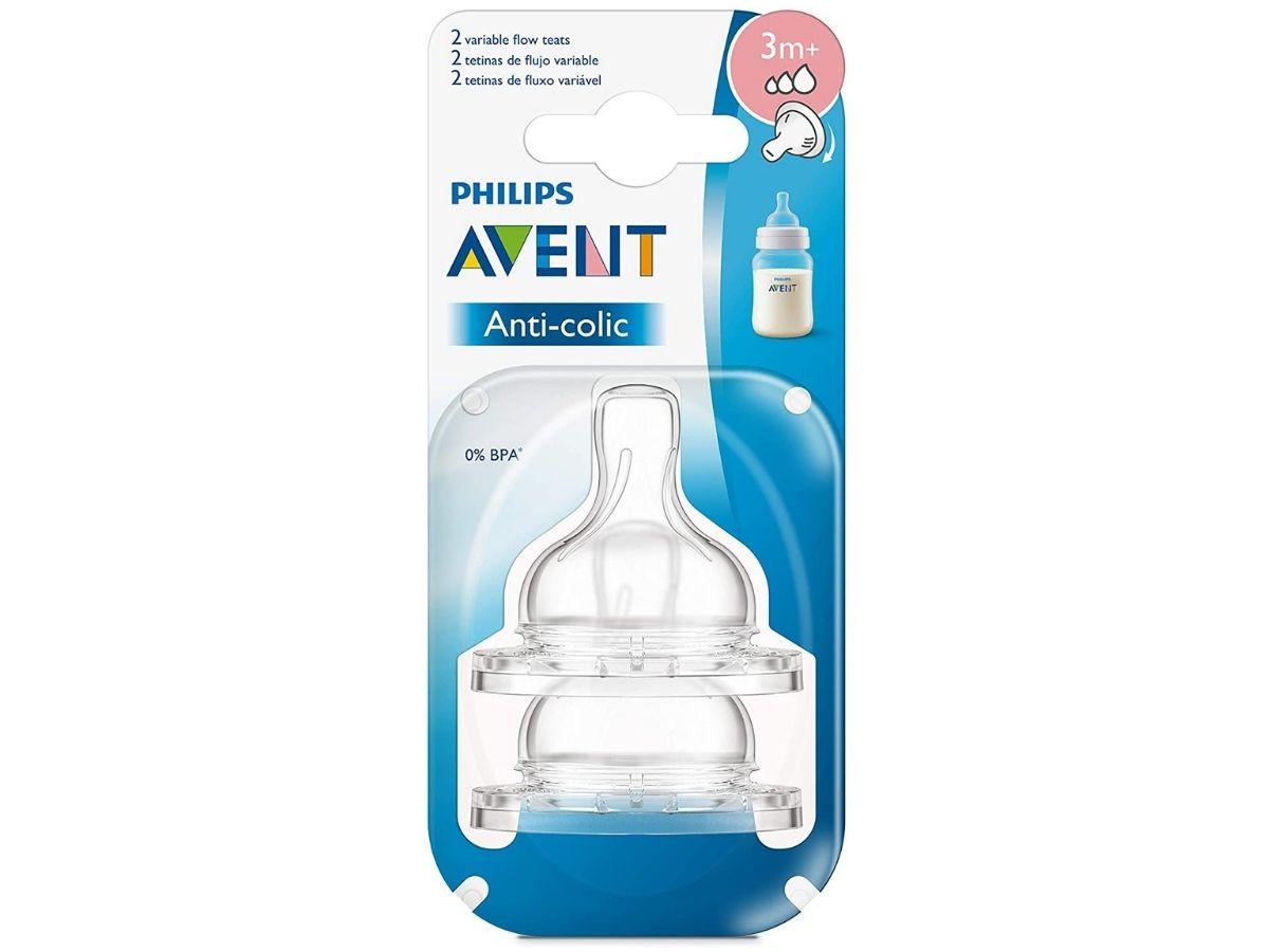 Bico de mamadeira Anti-colic clássica N°3 fluxo variável (3m+) - Avent  - Kaiuru Kids