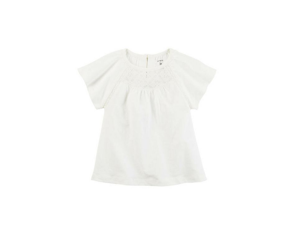 Blusa off white com renda - Carter