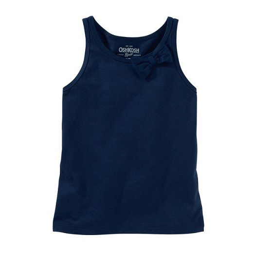 Blusa regata laço azul marinho - OshKosh  - Kaiuru Kids