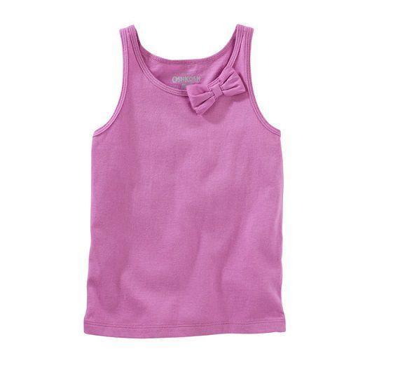 Blusa regata laço lilás - OshKosh  - Kaiuru Kids
