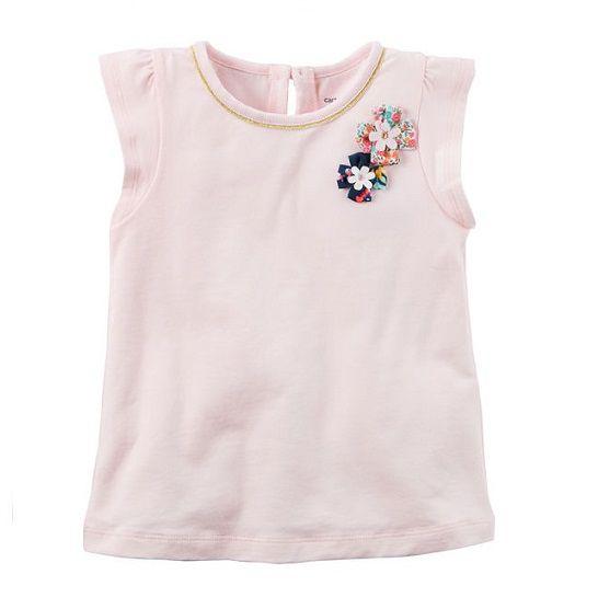 Blusa rosa claro flores - Carter