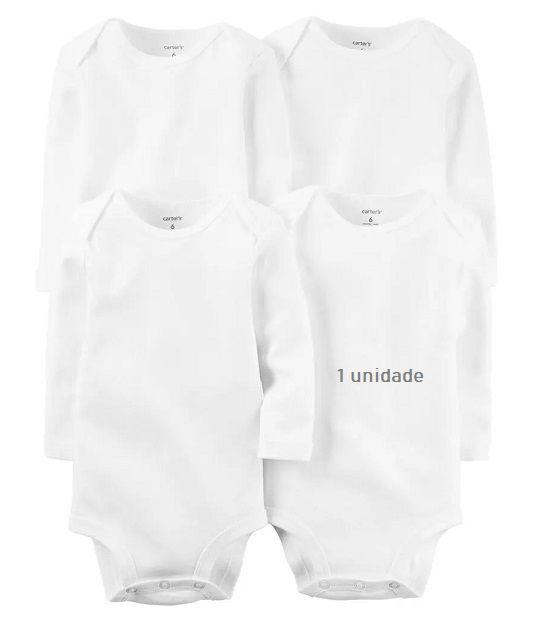 Body branco manga longa unitário - Carters  - Kaiuru Kids