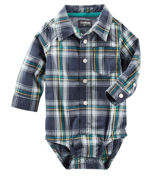 Body camisa xadrez - OshKosh  - Kaiuru Kids