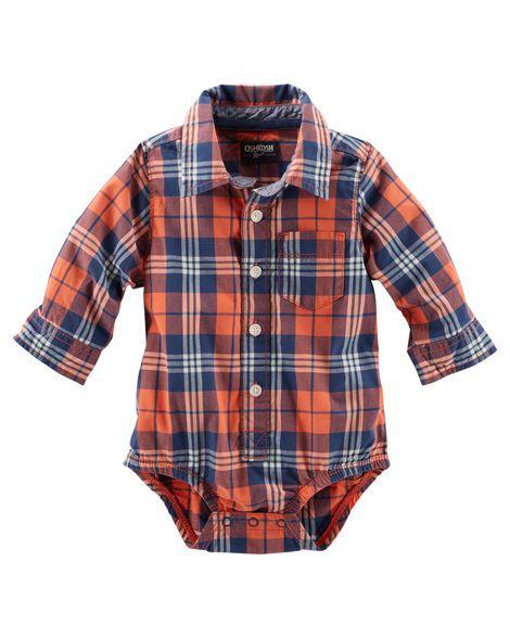 Body camisa xadrez - OshKosh  - Kaiuru Kids